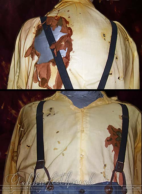 Civil-Zombie-Costume-Uniform-Shirt-Front-Back