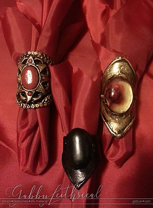 Costume-Accessory-Leather-Resin-Rings