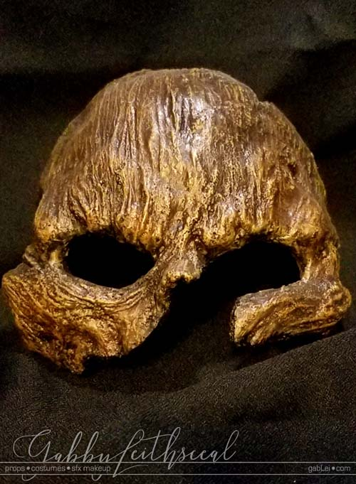 Costume-Accessory-Wood-Skull-Mask
