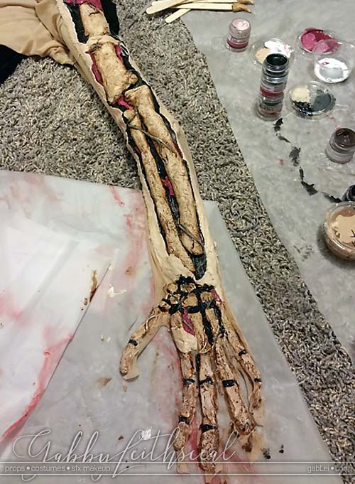 Day-of-the-Dead-Costume-Arm-Coloring