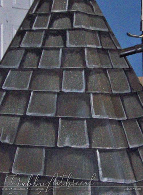 Fake-Roof-Steeple-Faux-Painted-Shingles