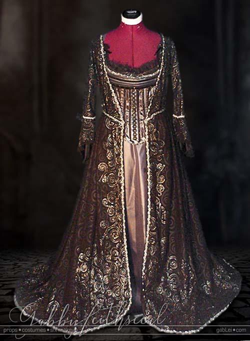 Masquerade-Costume-Queen-Corset-Underskirt-Overdress