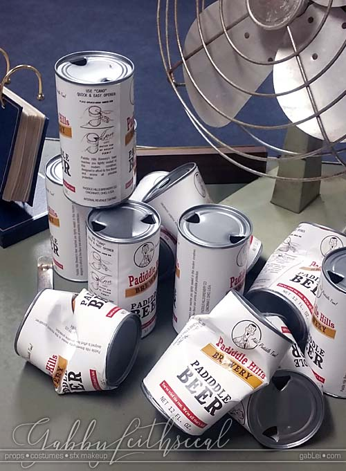 Notzilla-Props-Opened-Crushed-Vinatge-Beer-Cans