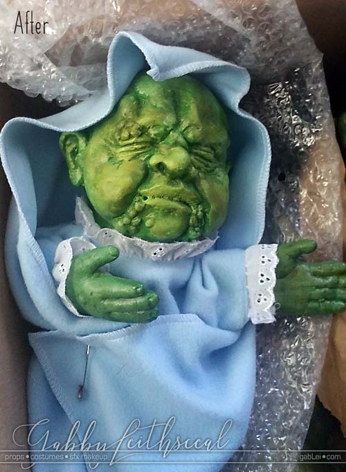 Toxic-Avenger-Baby-Puppet-After-Paint