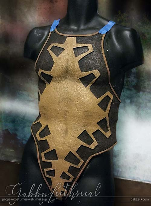 Zelda-Gandondorf-Costume-Body-Armor-Shaping-WIP