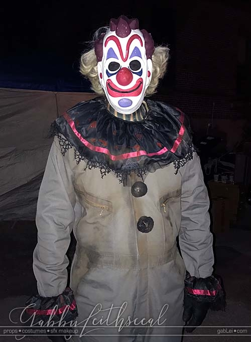 Haunt-Film-Clown-Mask-On-Set